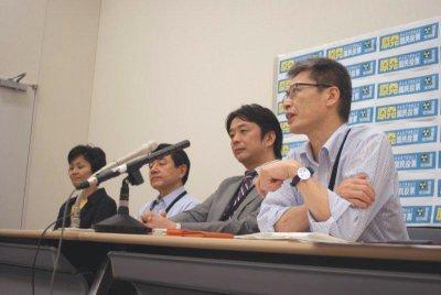 2011年7月7日記者会見風景